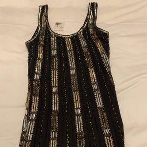 Black Sequence Mini Dress